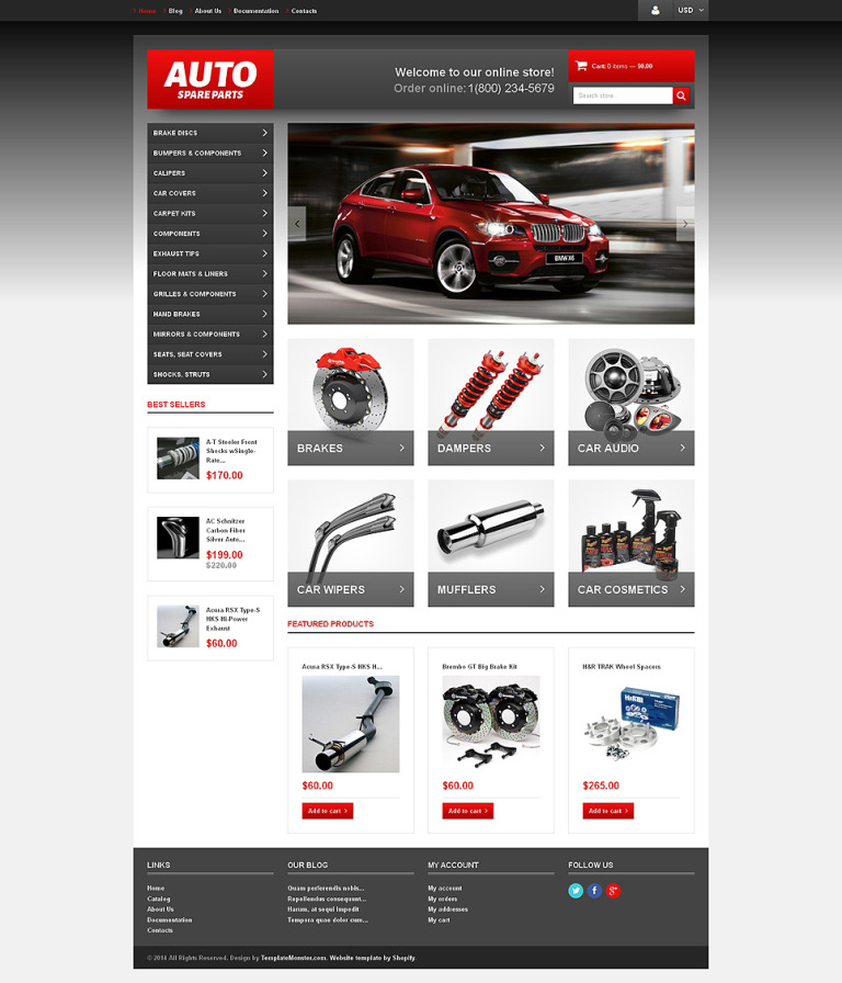Auto Parts Responsive Shopify Theme New Screenshots BIG