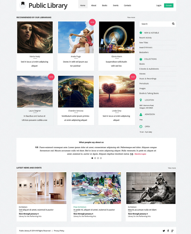 Book Reviews Responsive Website Template New Screenshots BIG