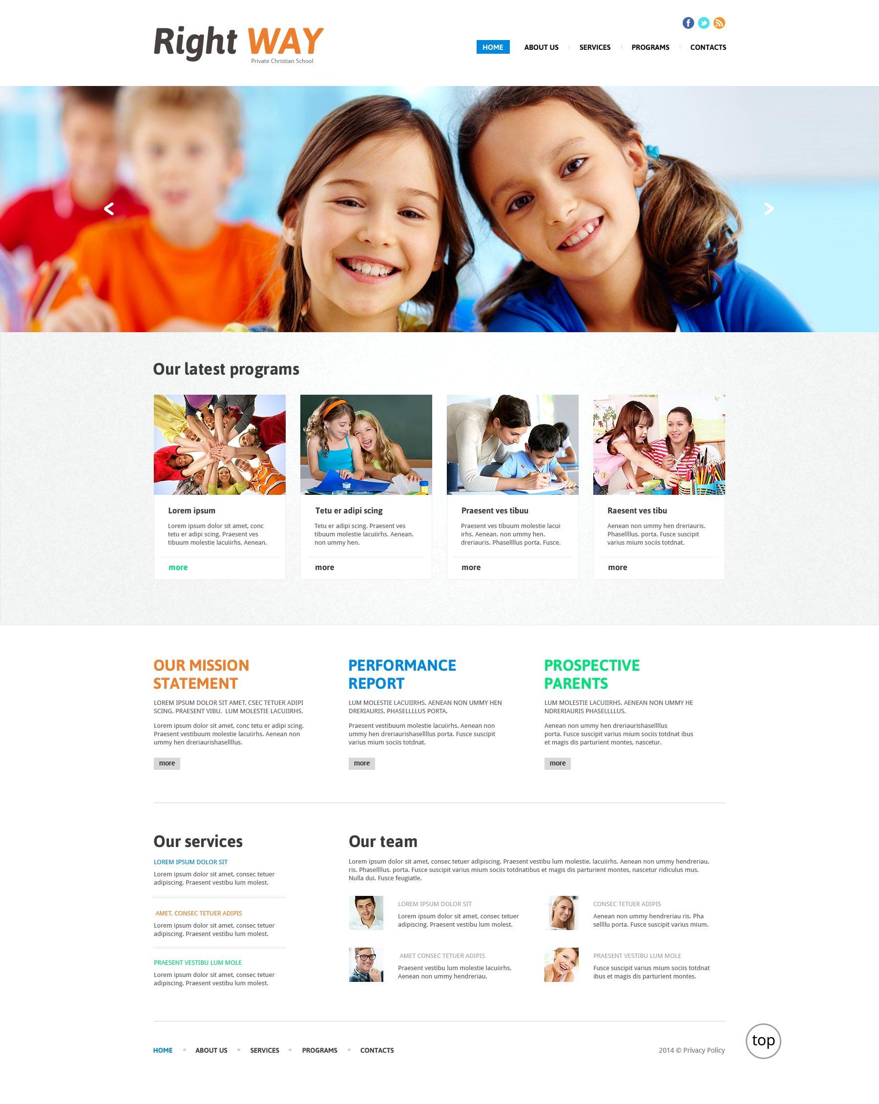 Christian Responsive Website Template - screenshot