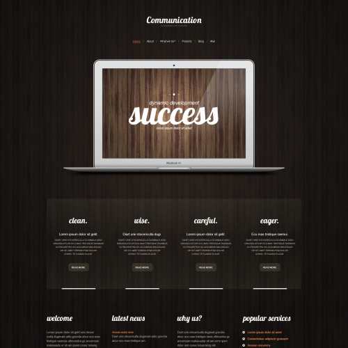 Communications - WordPress Template based on Bootstrap