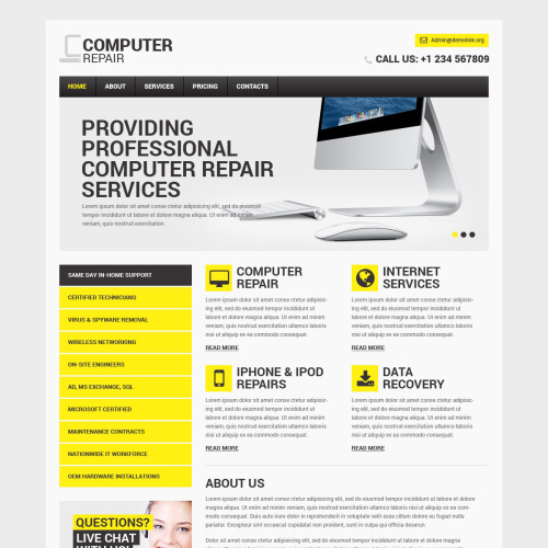 Computer Repair - Computer Repair Website Template