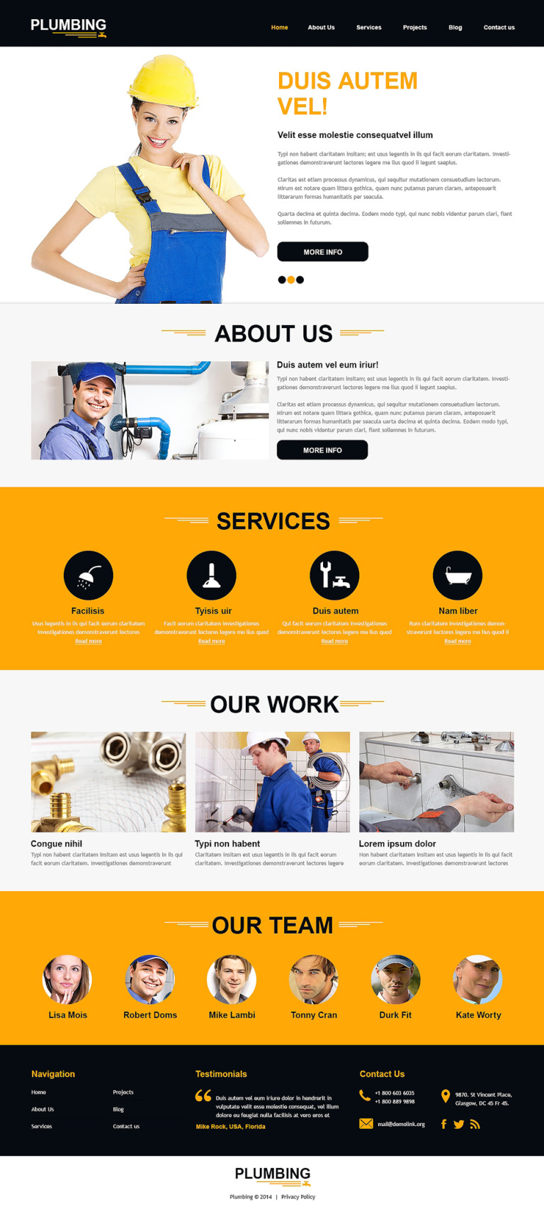 Construction Company Joomla Template New Screenshots BIG