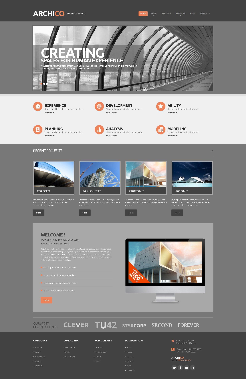Construction Company Responsive WordPress Theme #48188