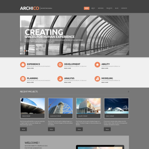 ArchiCo - WordPress Template based on Bootstrap