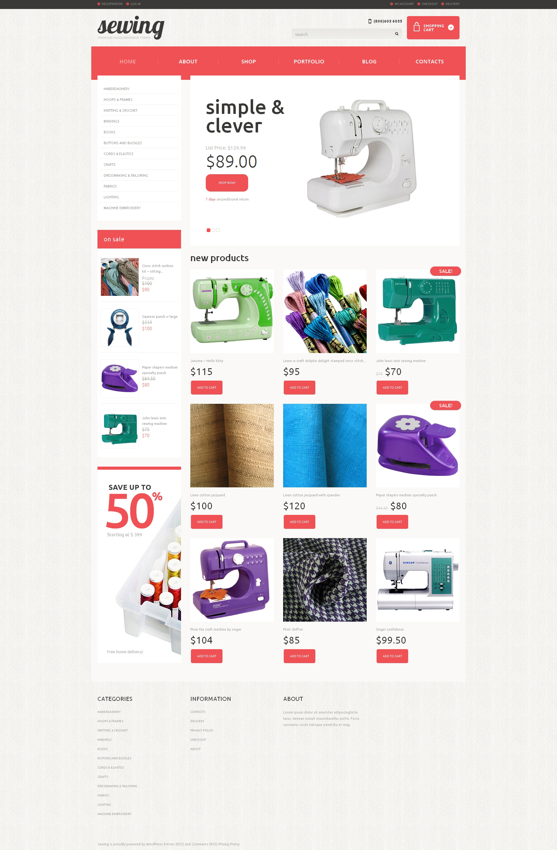 Crafts Responsive WooCommerce Theme - screenshot