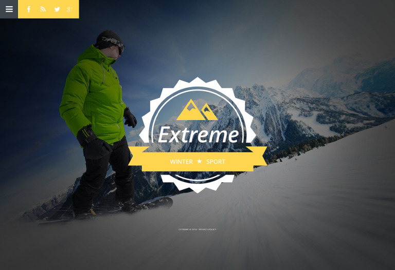 Extreme Sports Website Template New Screenshots BIG