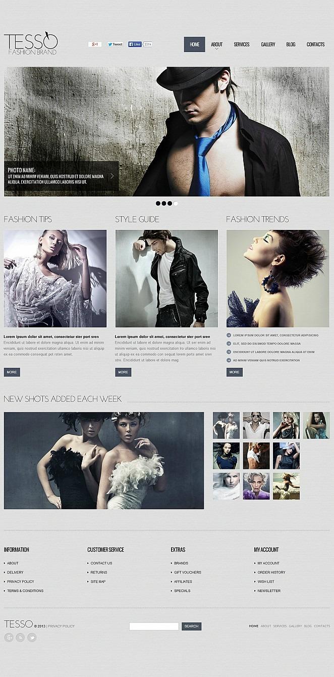 Fashion Blog Flash CMS Template New Screenshots BIG