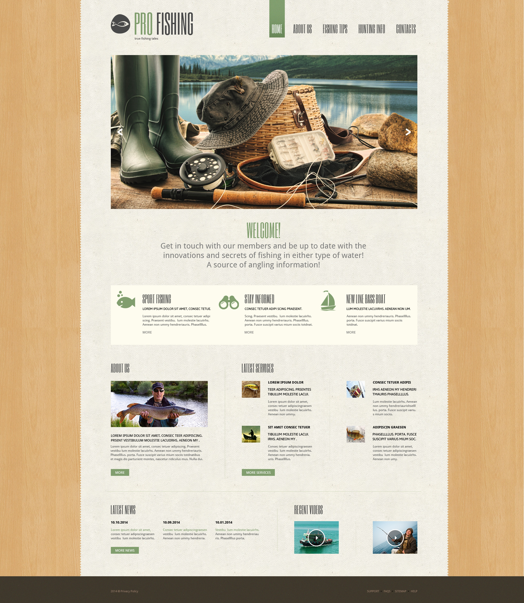Fishing Responsive Website Template