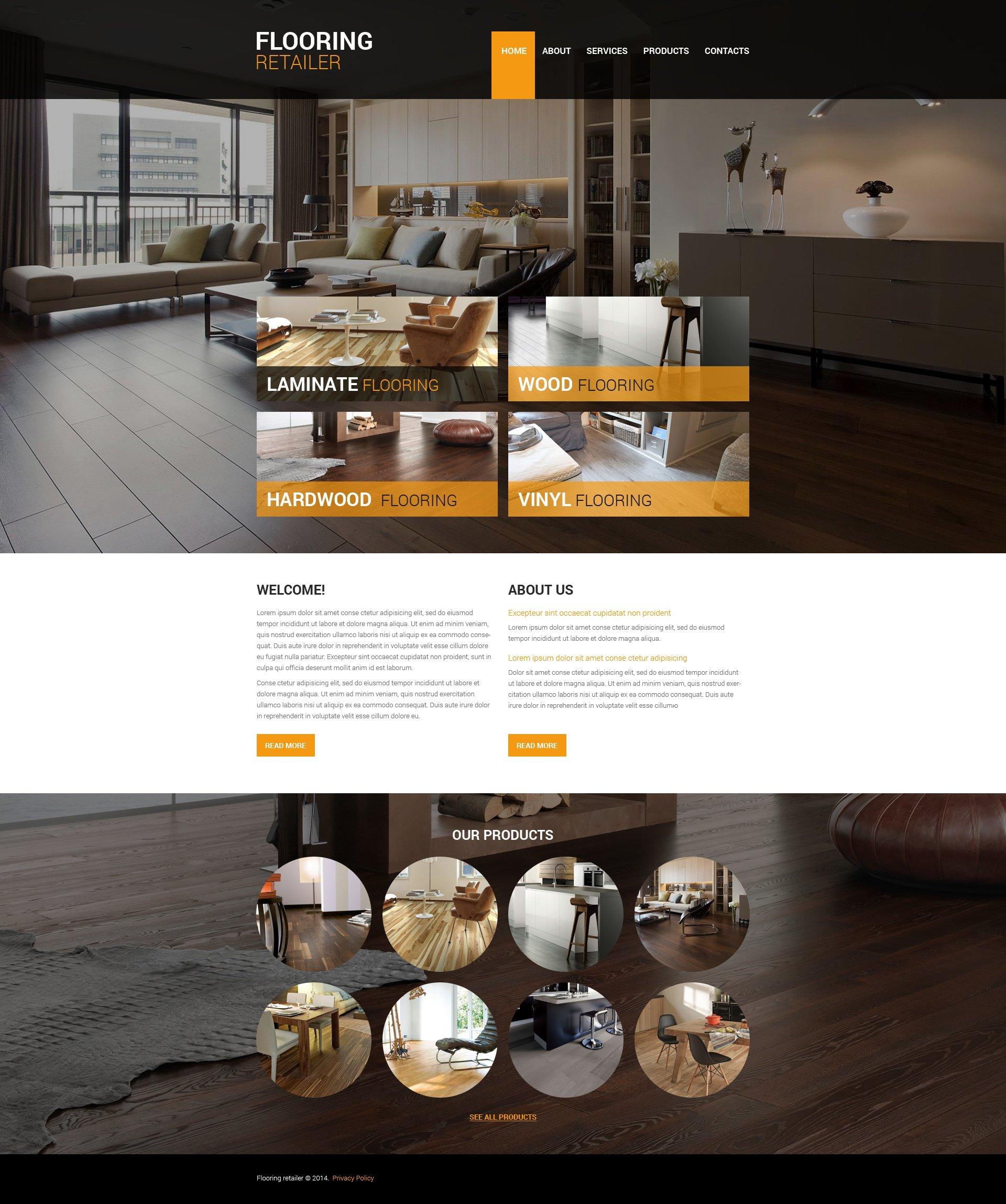 Flooring responsive website template 48139 flooring responsive website template pronofoot35fo Image collections
