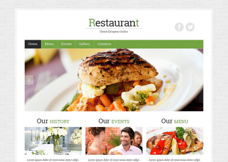 French Restaurant Responsive