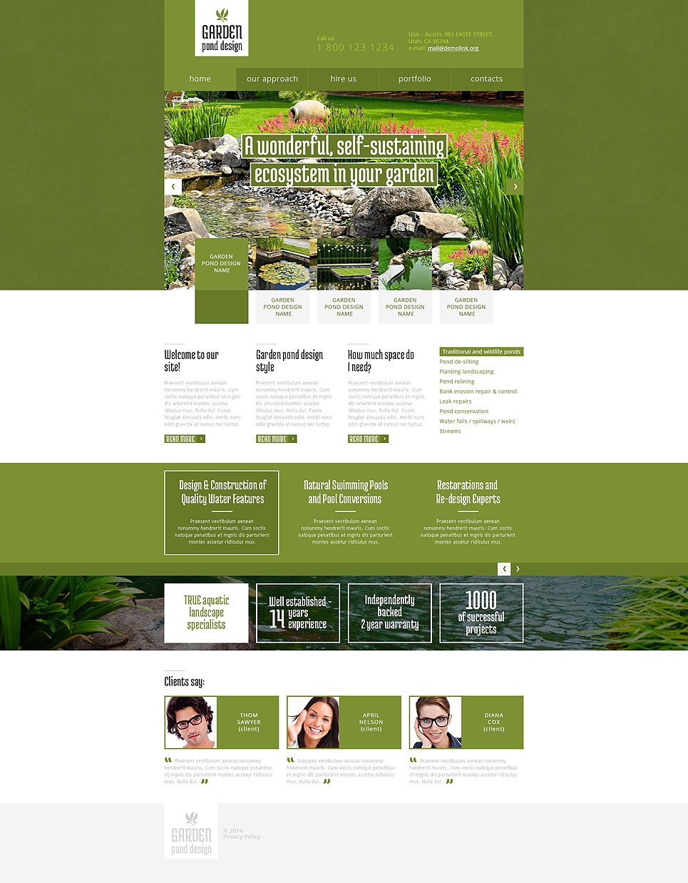 Garden Design Responsive Website Template #48179