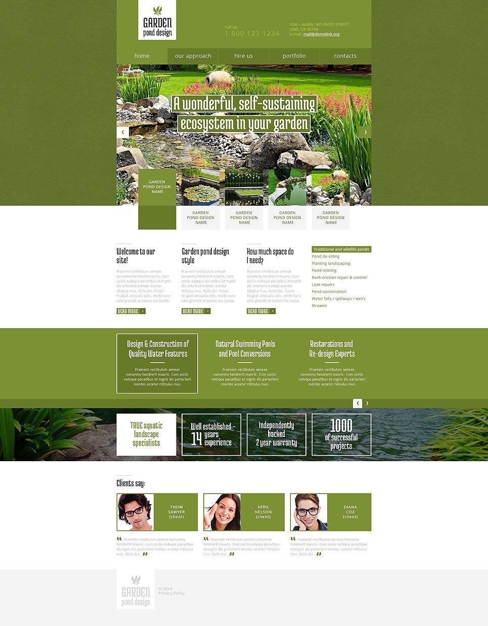 Garden Design Responsive Website Template 48179