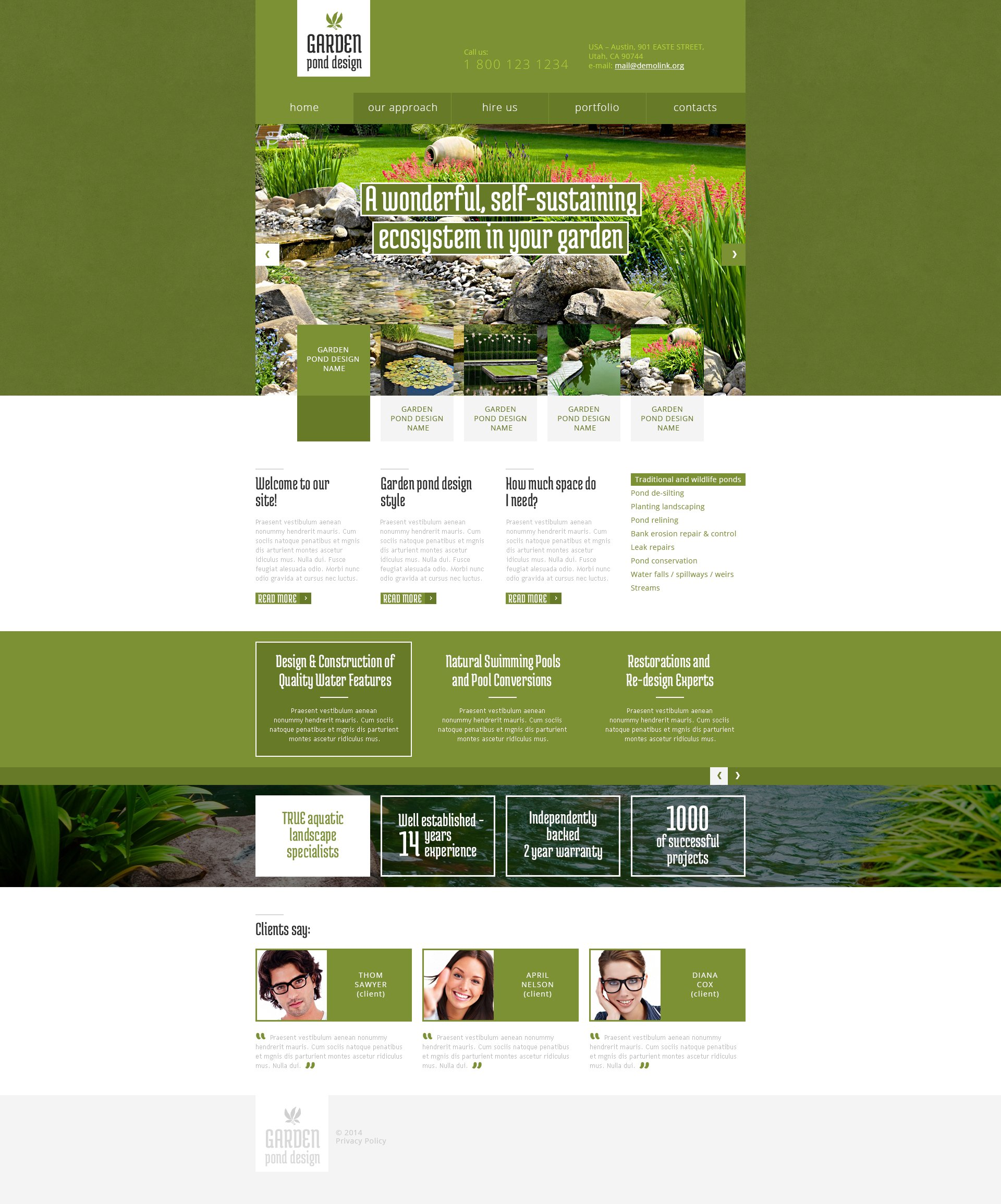 Ordinaire Garden Design Responsive Website Template