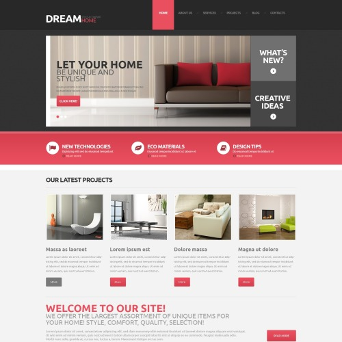 Dream Home - WordPress Template based on Bootstrap