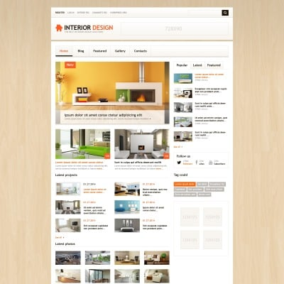 Interior design wordpress themes templatemonster for Interior design wordpress theme