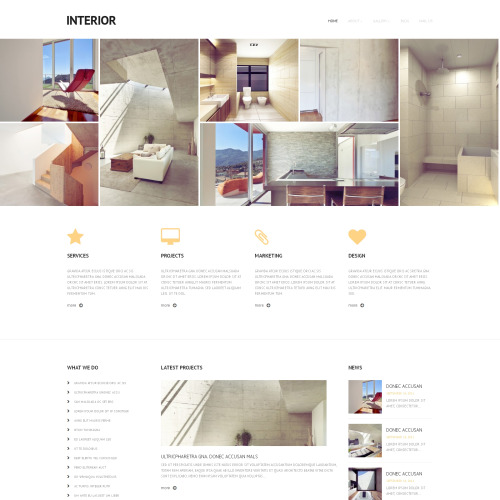 Interior - WordPress Template based on Bootstrap
