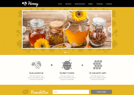 Honey Store Responsive