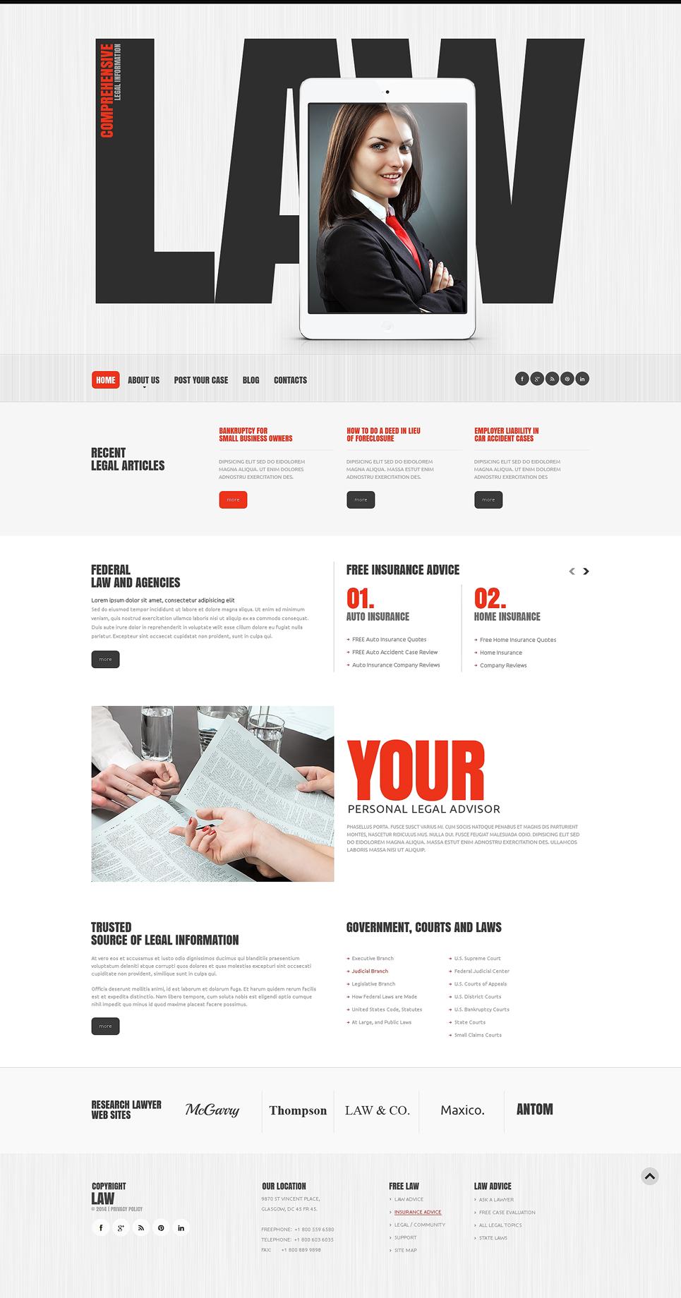 law firm responsive website template 48182. Black Bedroom Furniture Sets. Home Design Ideas