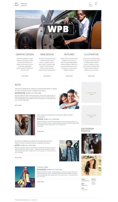 Thème WordPress adaptatif  pour site de design web