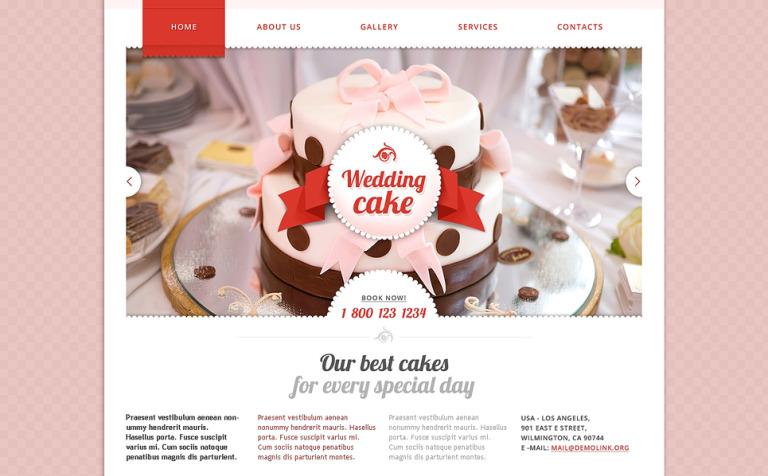 Plantilla Web #48177 para Sitio de Pasteles de boda