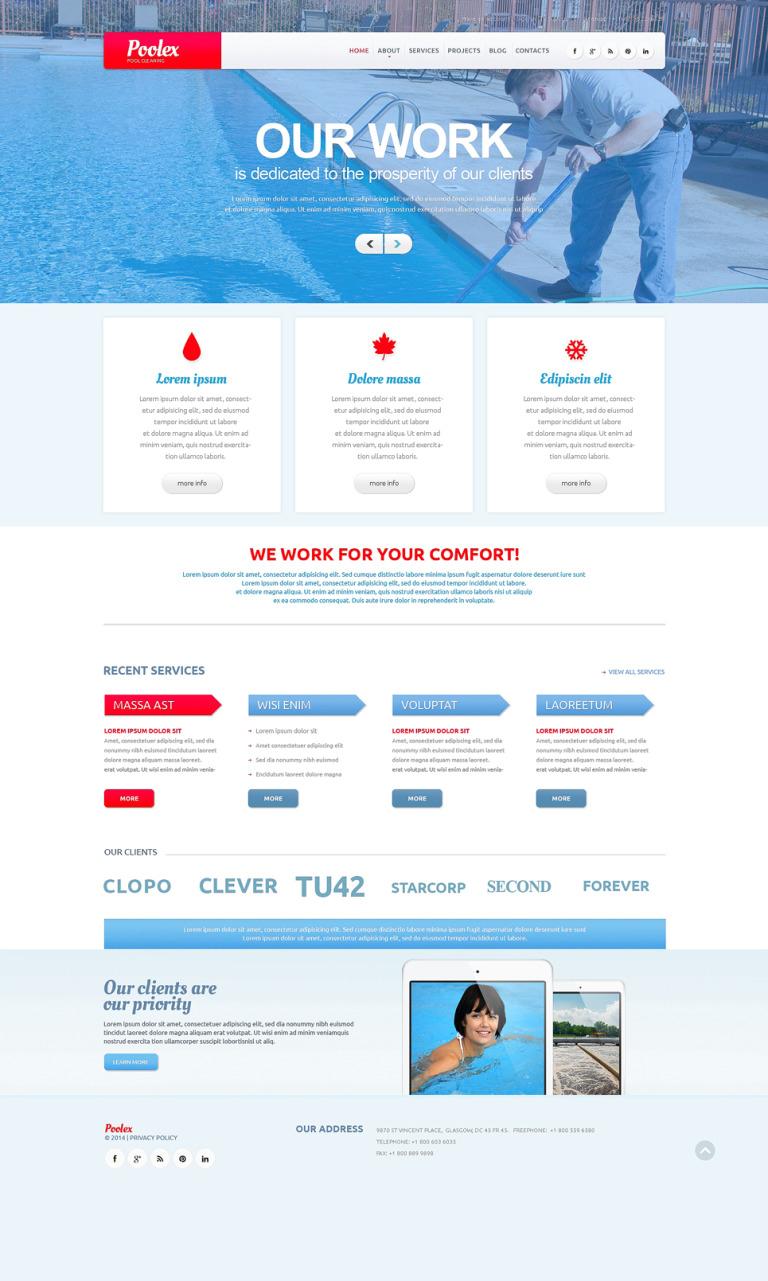 Pool Cleaning Company WordPress Theme New Screenshots BIG