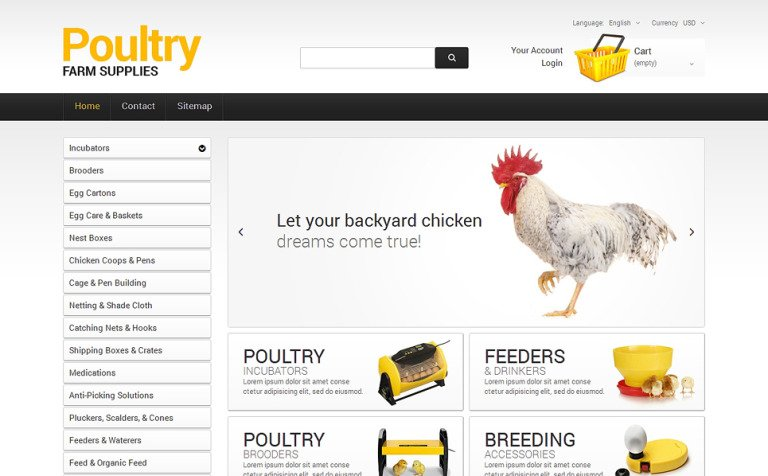 Poultry Farm Supplies PrestaShop Theme #48186