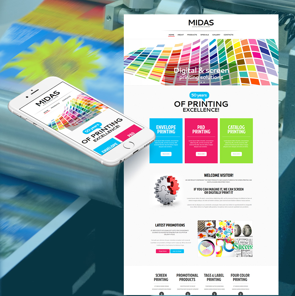 Print Shop Moto CMS HTML Template #48193