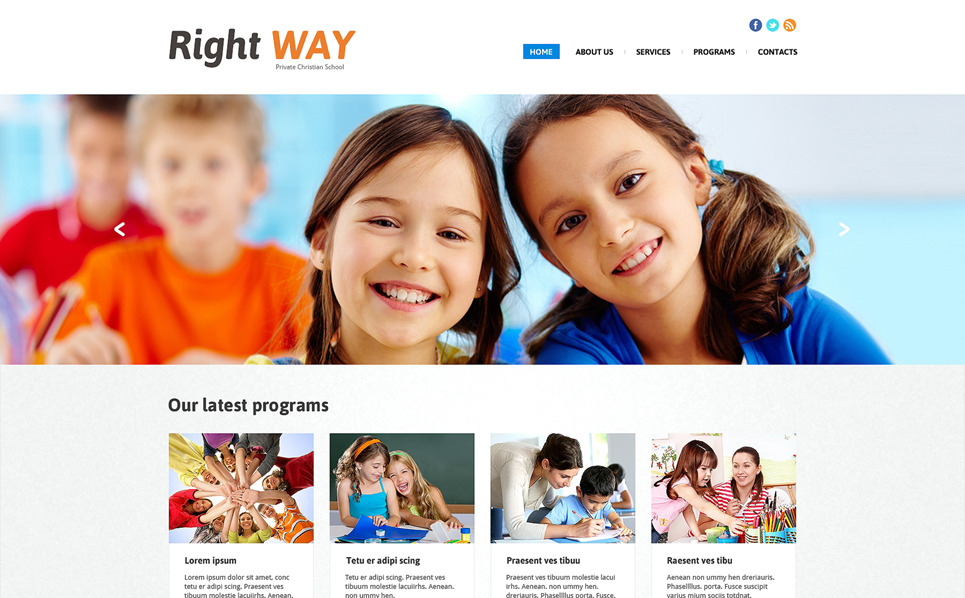 Responsive Christian Templates Web Sitesi Şablonu New Screenshots BIG