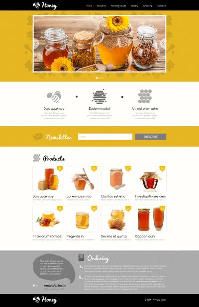 Responsive Website Vorlage für Honigshop