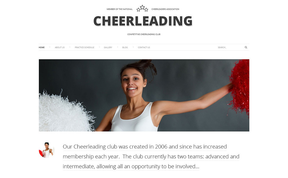 Responsives WordPress Theme für Cheerleading  New Screenshots BIG