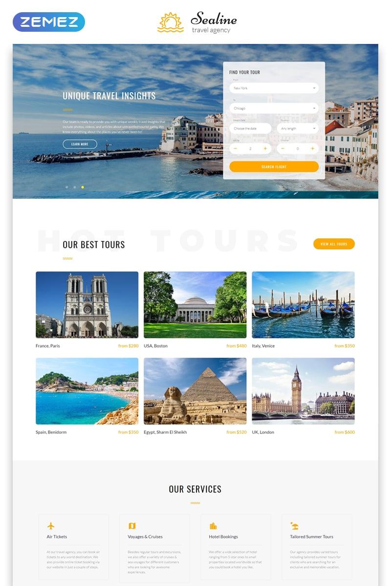 """Responzivní Šablona webových stránek """"Sealine Travel Agency Multipage HTML"""" #48115 - screenshot"""