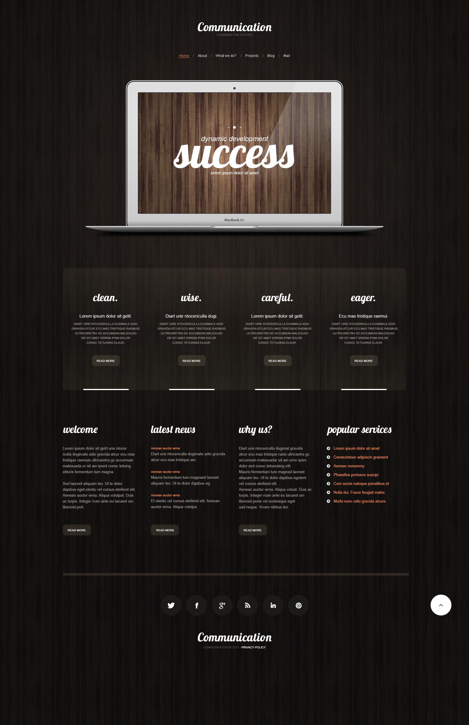 Responzivní WordPress motiv na téma Komunikace #48165 - screenshot