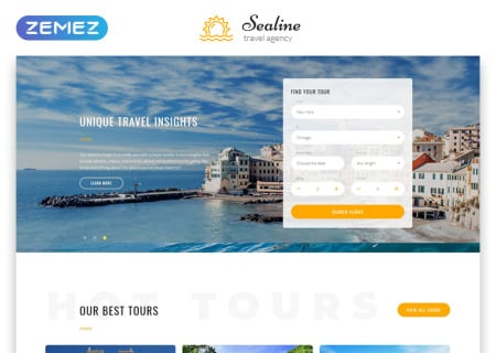 Sealine Travel Agency Multipage HTML