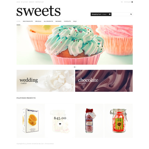 Sweets - HTML5 ZenCart Template
