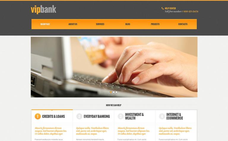 Tema de WordPress #48102 para Sitio de Bancos