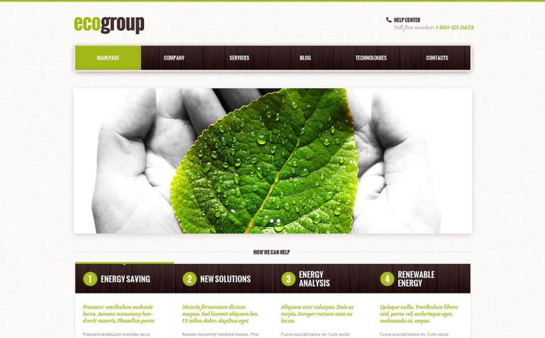 Tema de WordPress #48103 para Sitio de Energía alternativa