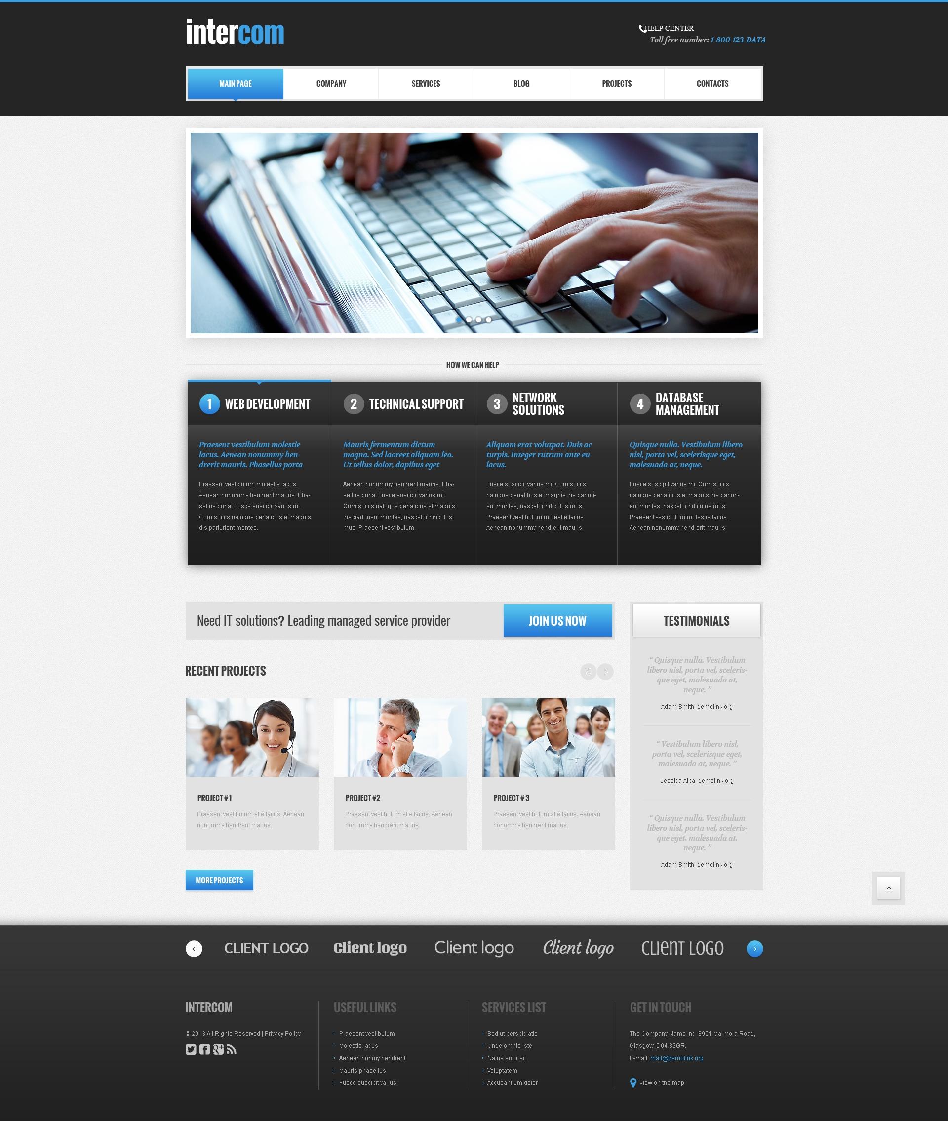 Tema De WordPress Responsive para Sitio de Comunicaciones #48104 - captura de pantalla