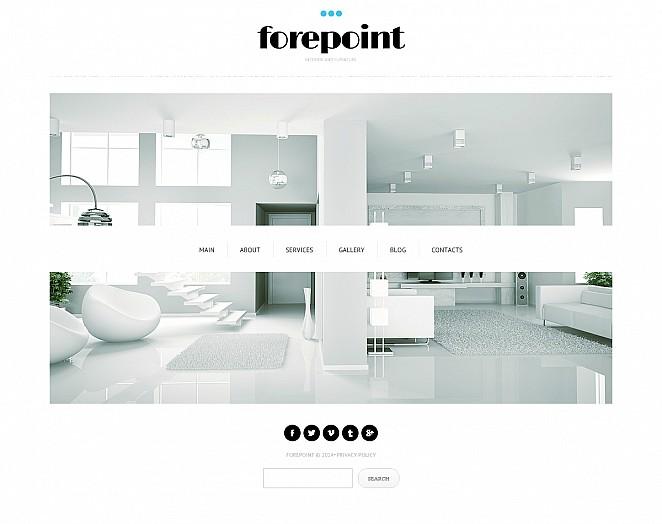 Tema flash cms per un sito di design di interni for Siti design interni