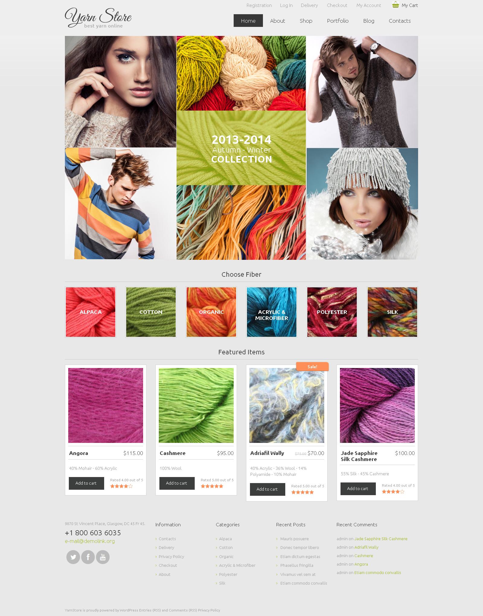 Tema WooCommerce Flexível para Sites de Artesaniais №48109