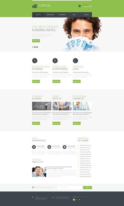 Flexível template Web №48141 para Sites de Consultor financeiro