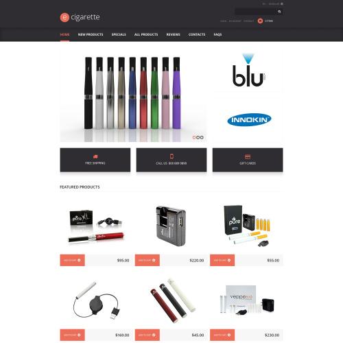 E-Cigarettes - HTML5 ZenCart Template