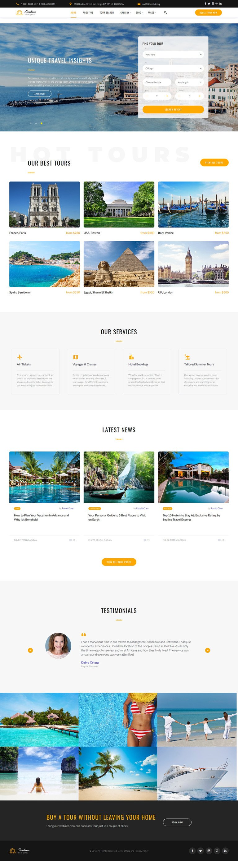 Travel Agency Responsive Website Template New Screenshots BIG