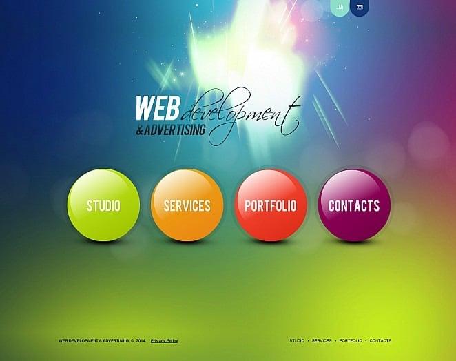 Web Development Flash CMS Template New Screenshots BIG