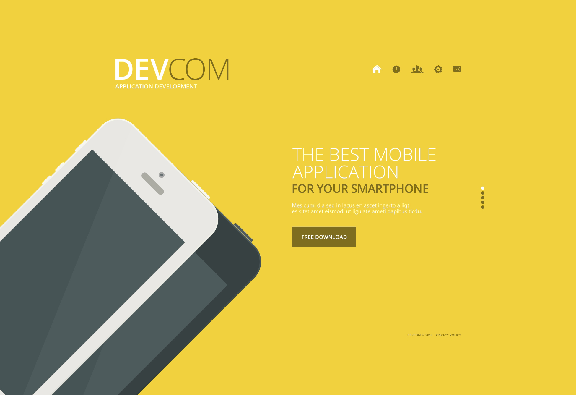 web development website template