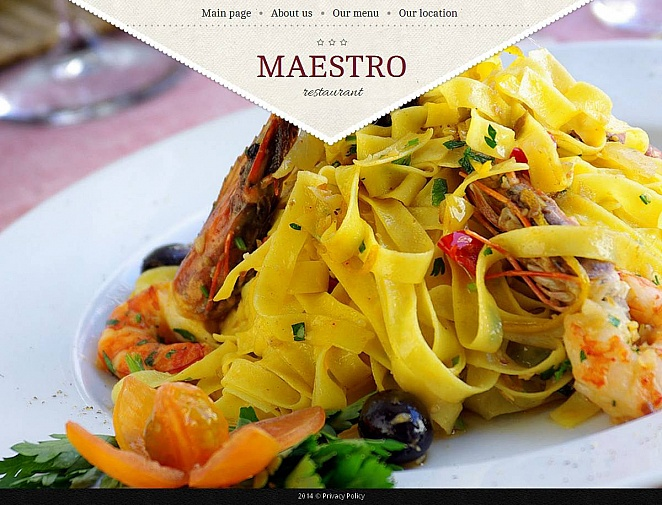 Restaurant Website Template with Full-screen Image Gallery - image