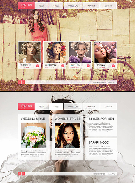 ADOBE Photoshop Template 48207 Home Page Screenshot