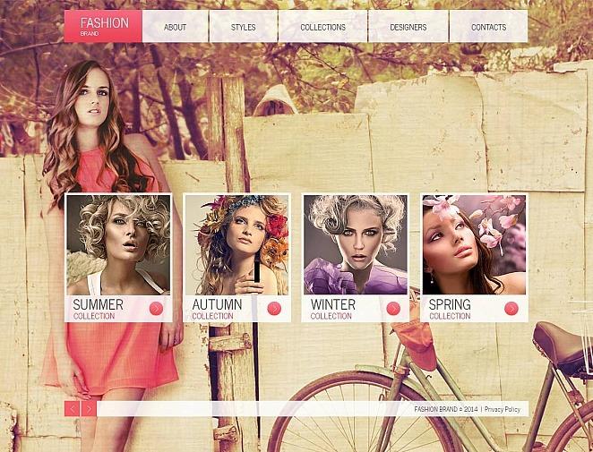 Premium Moto CMS HTML Template over Kledingzaak  New Screenshots BIG