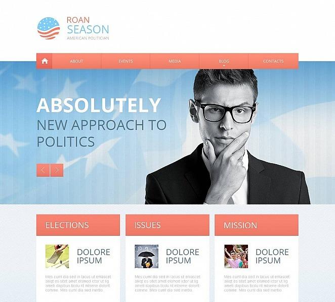 Modèle Moto CMS HTML  pour site de candidat politique New Screenshots BIG