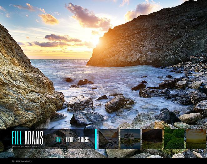 Plantilla Para Galería De Fotos #48213 para Sitio de Portafolio de fotógrafo New Screenshots BIG