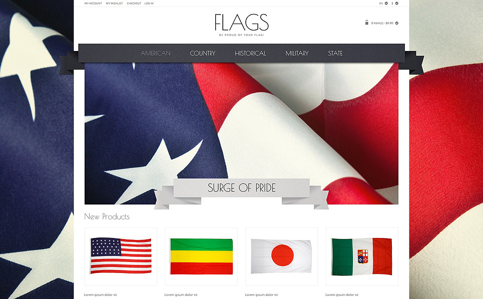 Tema Magento Responsive para Sitio de Política New Screenshots BIG
